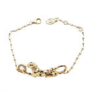 Cartier Panthere Yellow Gold Diamond Bracelet