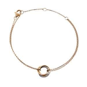 Cartier Trinity De Cartier 18K Three Tone Gold Soft Bracelet