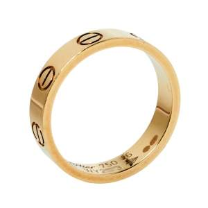 Cartier Love 18K Yellow Gold Narrow Wedding Band Ring Size 46