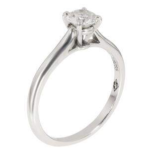 Cartier 1895 Platinum Diamond Solitaire Ring Size EU 48