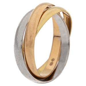 Cartier Trinity 18K Three Tone Gold Ring Size 52