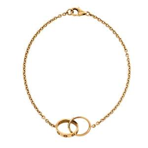 Cartier Love Interlocking Screw Motif 18K Yellow Gold Bracelet