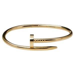 Cartier Juste Un Clou 18K Yellow Gold Bracelet 17