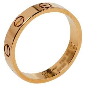 """خاتم زفاف كارتييه """"لوف"""" حلقة ذهب وردي عيار 18 مقاس 52"""