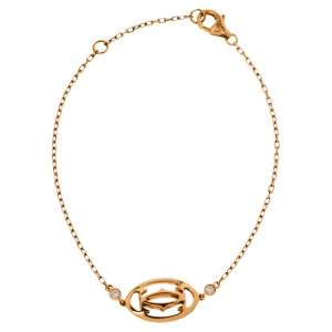 Cartier Double C de Cartier Diamond 18K Rose Gold Bracelet