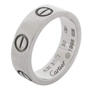 خاتم زواج كارتييه فينتدج لوف ذهب أبيض عيار 18 مقاس 50
