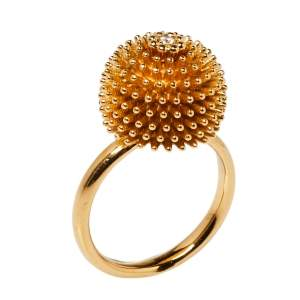 Cartier Cactus De Cartier Diamond 18K Rose Gold Ring Size 50