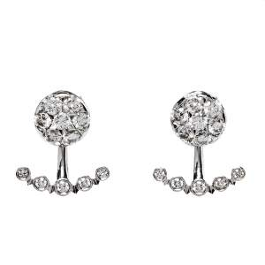 Cartier Etincelle De Cartier Diamond 18K White Gold Earrings
