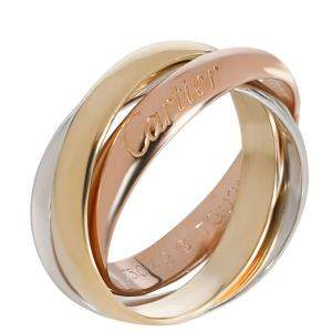 Cartier 18K Three Tone Gold Classic Trinity Ring Size 46