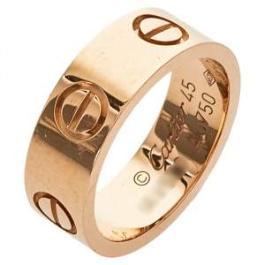 Cartier Love 18K Rose Gold Band Ring Size 45