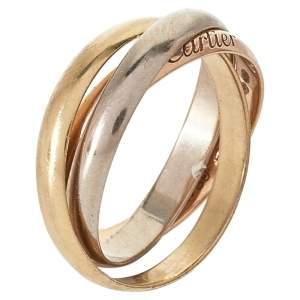Cartier Trinity 18K Three Tone Gold Small Model Ring Size 50