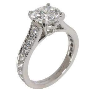 Cartier Platinum 1895 Diamond Engagement Ring