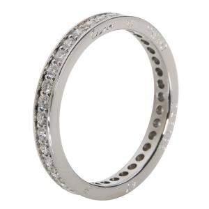 Cartier Platinum Ballerine 0.50 CTW Diamond Eternity Wedding Ring  Size 47
