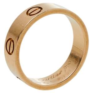 Cartier Love 18K Yellow Gold Ring Size 55