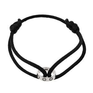 Cartier Love 18K White Gold Adjustable Cord Bracelet