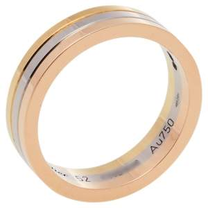 Cartier Trinity 18K Three Tone Gold Wedding Band Ring Size 52