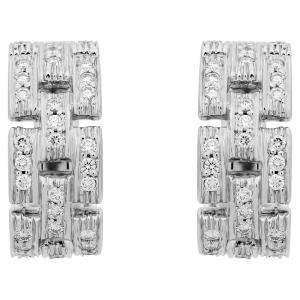 Cartier 18K White Gold Diamond Maillon Panthere Earrings