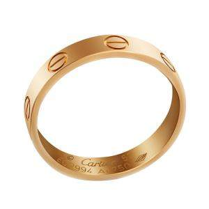 Cartier 18K Rose Gold Mini Love Ring Size EU 50