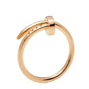Cartier Juste Un Clou 18K Rose Gold Ring SM Size 48