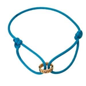 Cartier Love Charity Diamond 18K Rose Gold Adjustable Cord Bracelet