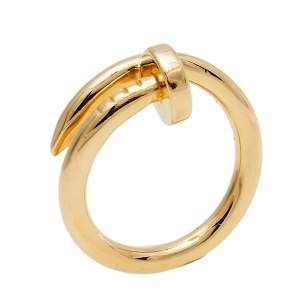 Cartier Juste Un Clou 18K Yellow Gold Ring Size 49