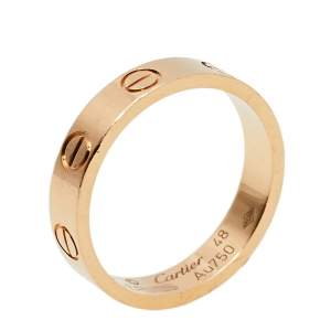 Cartier Love 18K Rose Gold Wedding Band Ring Size 48
