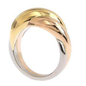 Cartier Vintage Trinity 18K Yellow Gold, White Gold, Rose Gold Ring Size EU 54.5