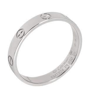 Cartier Platinum Love Wedding Band Ring Size 60