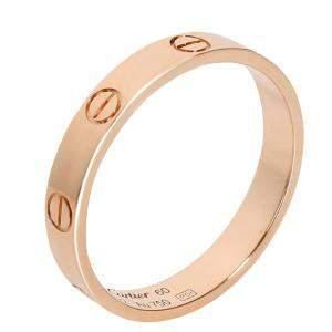 Cartier 18K Rose Gold Love Wedding Band Ring 60
