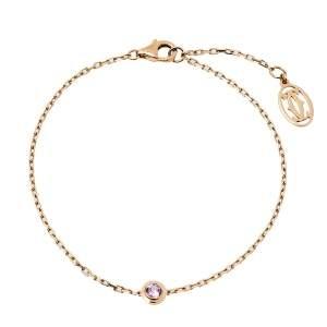 Cartier Saphirs Legers de Cartier Pink Sapphire 18K Rose Gold Bracelet