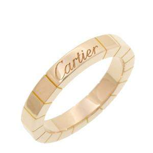 Cartier Lanieres 18K Yellow Gold Ring Size EU 49
