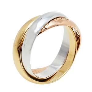 Cartier Classic Les Must De Trinity 18K Three Tone Gold Ring Size 49