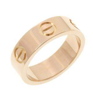 Cartier Love 18K Rose Gold Ring Size EU 48