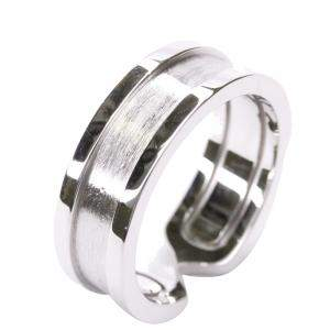 Cartier Double C 18K White Gold Band Ring Size EU 53