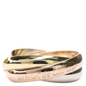 Cartier Trinity 18K Yellow Gold, Rose Gold, White Gold Ring Size EU 50