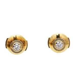 Cartier Diamants Légers Diamond 18K Yellow Gold Stud Earrings XS