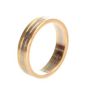 Cartier Trinity 18K Yellow Rose White Gold Ring Size EU 50