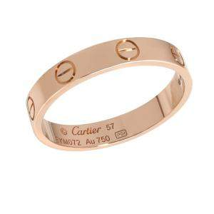 Cartier Love 18K Rose Gold Ring Size EU 57