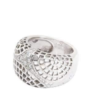 Cartier Dome Diamond 18K White Gold Ring Size EU 50