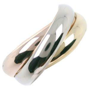 Cartier 18K Yellow Gold, Rose Gold, White Gold Trinity Ring Size EU 49