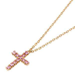 Cartier Symbol 18K Rose Gold Cross Sapphire Necklace
