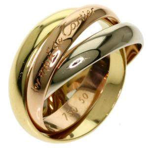 Cartier 18K Yellow Gold, Rose Gold, White Gold Le Must de Cartier Trinity Ring Size 50.5