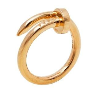 Cartier Juste Un Clou 18K Rose Gold Ring Size 52
