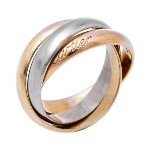 Cartier Trinity Classic 18K Three Tone Gold Ring Size 52
