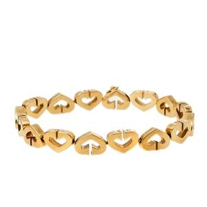 Cartier C Heart 18K Yellow Gold Bracelet