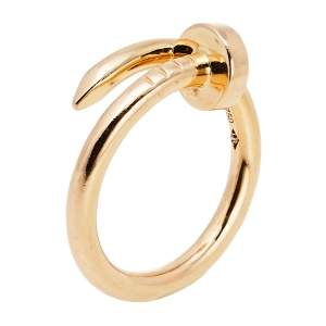 Cartier Juste Un Clou 18K Rose Gold Ring Size 54