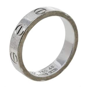 Cartier Love 18K White Gold Wedding Band Ring Size 46