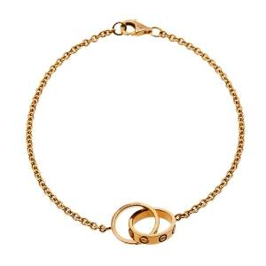 Cartier Love Screw Motif 18K Rose Gold Bracelet
