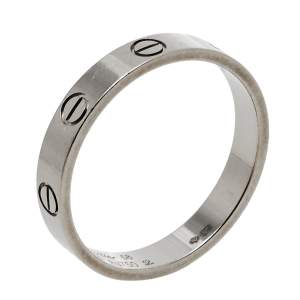 Cartier Love 18K White Gold Wedding Band Ring Size 58