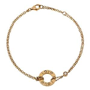 Cartier Love Diamond 18K Rose Gold Bracelet